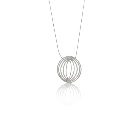 Picture of Cuddle necklace of silver designed by Romeu Bettencourt