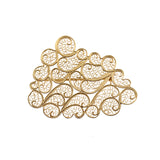 Clouds Brooch Gold Plated Silver by Susana Teixeira Jewelry at by PT online store Portuguese jewelry handmade large size