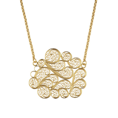 Clouds Necklace Gold Plated Silver by Susana Teixeira Jewelry at by PT online store, Portuguese jewelry handmade