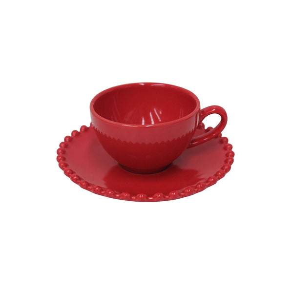 Coffee cup & saucer Pearl Rubi by Costa Nova at by PT online store