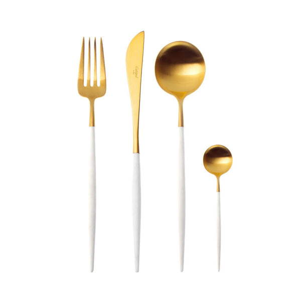 Shop online Cutipol Goa Cutlery white and gold