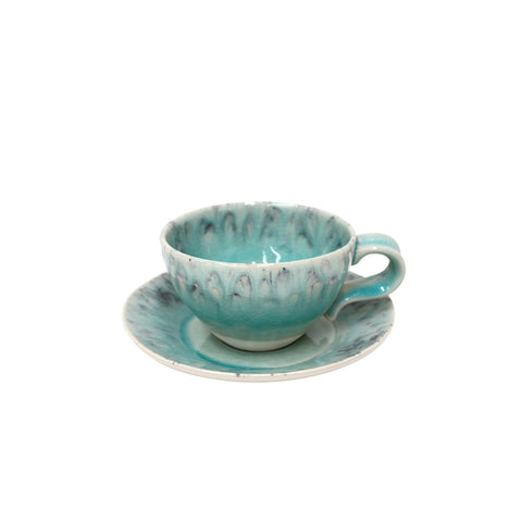 Madeira tea cups & saucer by Costa Nova Tableware, Shop Online Costa Nova Tableware, tea cup & saucer green, tea cups blue