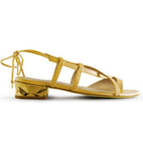 Shop online Diamond Flat Sandal Lemon Zest Quartz by GUAVA at by-PT.com