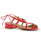 Shop online Diamond Flat Sandal Lipstick Red Quartz by GUAVA at by-PT.com