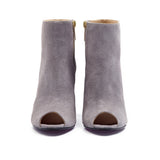 Shop online Diamond Peep Toe Boot Pebble Grey by GUAVA at by-PT.com