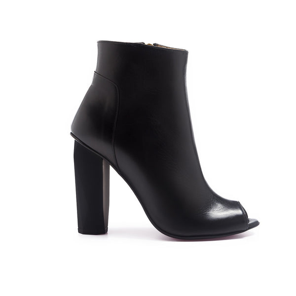 Shop online Diamond Peep Toe Boot Ultimate Black by GUAVA at by-PT.com