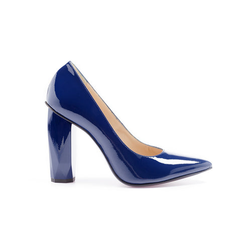 Diamond Pump Indigo Blue by GUAVA. Portuguese shoes at by-PT.com