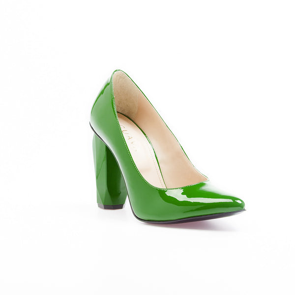 Diamond Pump Mela Green by GUAVA. Portuguese shoes at by-PT.com