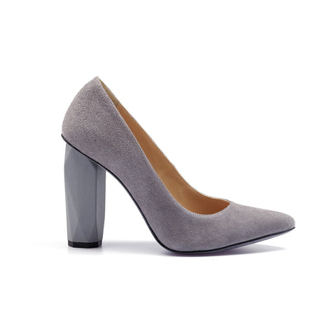 Diamond Pump Pebble Grey by GUAVA. Portuguese shoes at by-PT.com