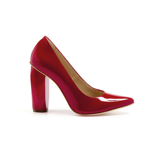 Diamond Pump Scarlet Red by GUAVA. Portuguese shoes at by-PT.com
