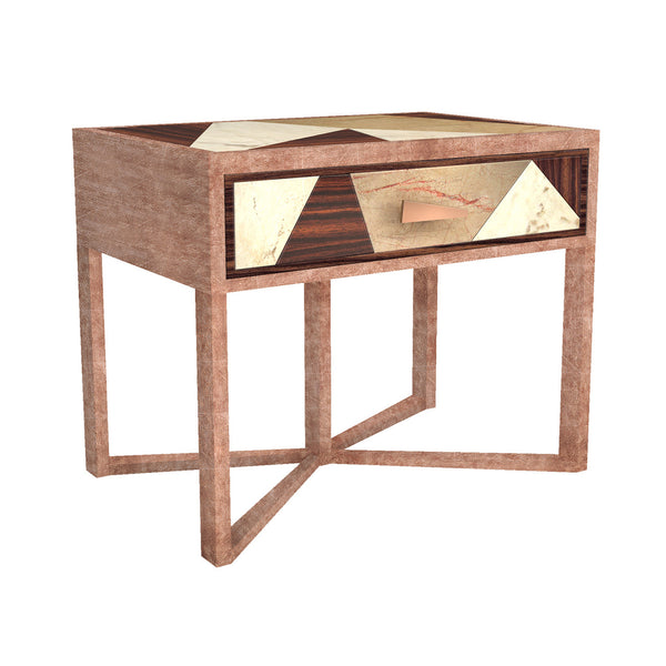 Diaspore nightstand by MURANTI is beautiful and exotic in a sou and subtle way. Shop online luxury furniture at by-pt.com
