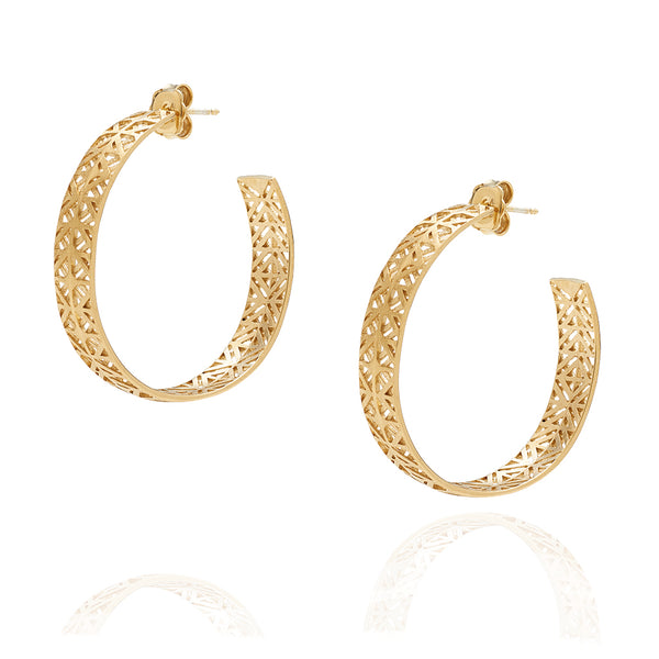 Earrings ear rings golden plated or silver Azulejo, Mater Jewellery Tales, shop online earrings at by-PT, argolas Azulejo da Mater