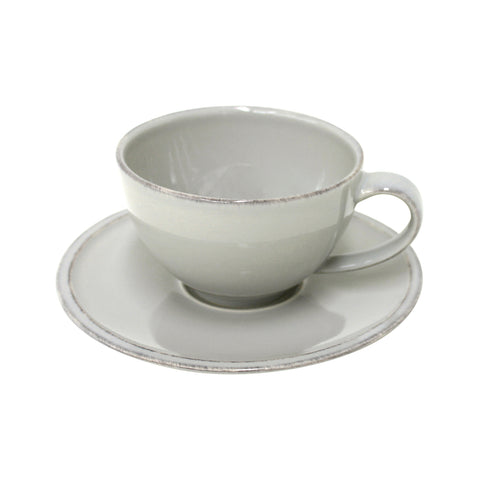 FICS01 tea cup & saucer grey Friso by Costa Nova at by PT online Store