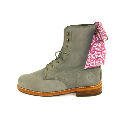 Women Green Boots Florence Portuguese Lifestyle Online Shop Mode Fashion Design Suede