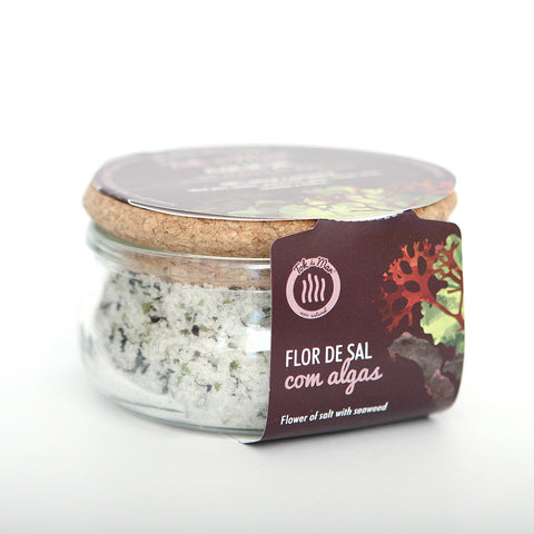 Flor de Sal com mistura de flocos de algas. Flower of salt with seaweed mix flakes Tok de Mar by AlgaPlus at by-PT.com