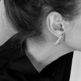 Héliks earrings by Marta Pinto Ribeiro Contemporary Jewellery Design at by-PT online store, brincos Héliks em prata 925 e esmalte, silver and enamel