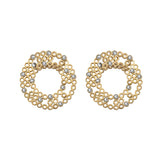 Earring Golden Silver Tube Mater Jewellery Tales shop online at by-PT