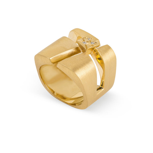 Ring designed by Mater Jewellery Tales, Mater Jewellery Tales Ring, Golden plated ring, shop online rings