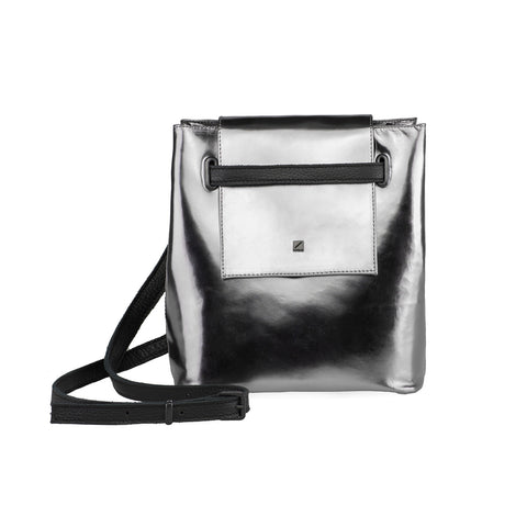 Maria Maleta Bucket Mini Silver your rules collection at by-PT.com online shop Saco em pele