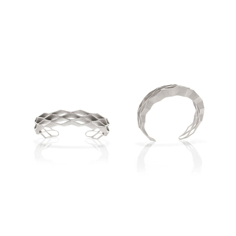 Pleat bracelet in silver by Romeu Bettencourt Jewellery Design