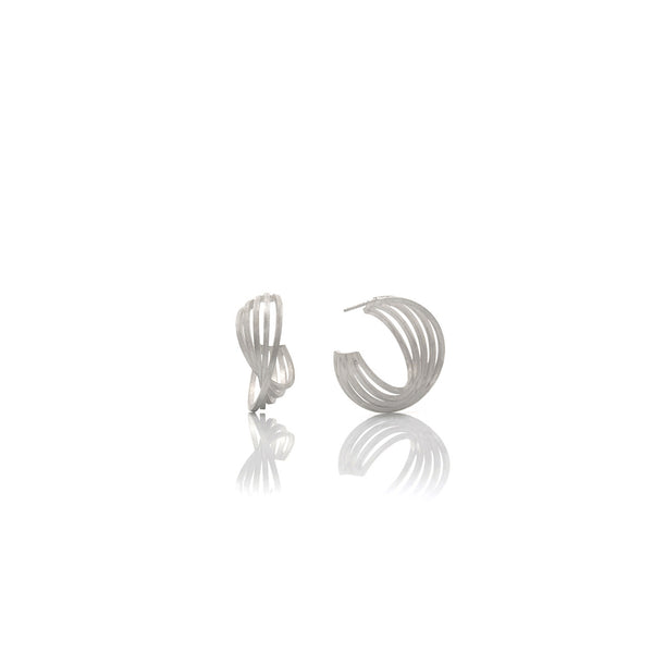 Picture of Cuddle earrings of silver designed by Romeu Bettencourt