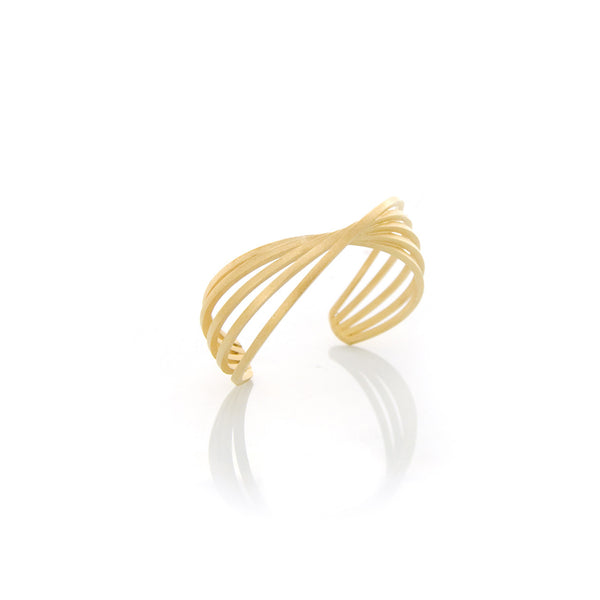 Picture of Cuddle Bracelet of golden silver designed by Romeu Bettencourt