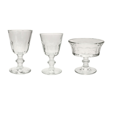 Rustic glassware includes water glass, wine glass and cup by Costa Nova. Shop Online Glassware at by-PT