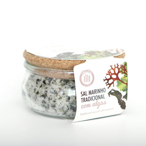 Sal Marinho com mistura de algas. Traditional sea salt with seaweed mix Tok de Mar by AlgaPlus at by-PT.com