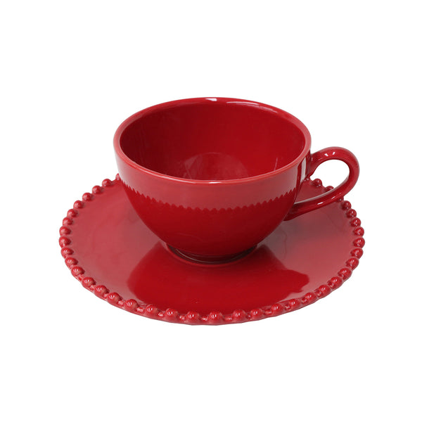 Tea cup & saucer Pearl Rubi by Costa Nova at by PT online store