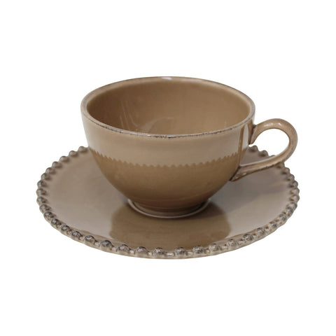 Shop Online Tea Cup & Saucer Pearl by Costa Nova at by-PT.com