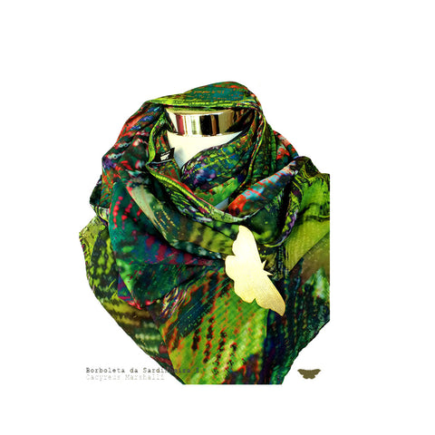 Borboleta Sardiheira I Women Accessories Ana Leite Scarves Colours Fashion Design Portuguese Lifestyle Online Shop Mode Present
