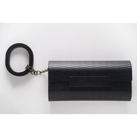 CLUTCH OLHO DE PERDIZ BLACK with BRACELET by Marita Moreno