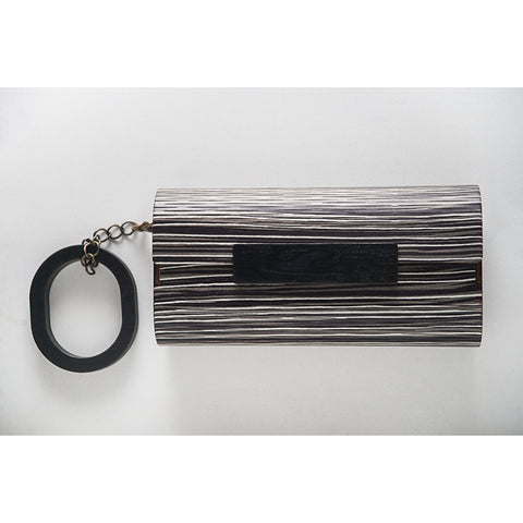 CLUTCH DECORATIVA LISTRAS with BRACELET by Marita Moreno
