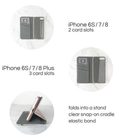 Wallet Case for iPhone - Card Slots and Cash Pocket