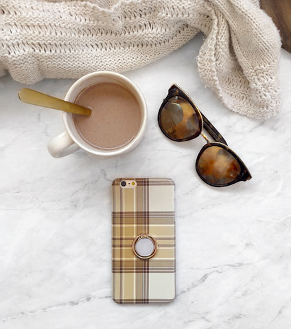 Cozy plaid iPhone case