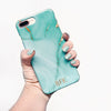 Aqua Marble iPhone 8 Plus case with monogram