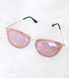 Pink and gold high fashion sunglasses