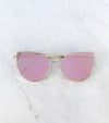 Pink and Gold cat eye sunglasses for women