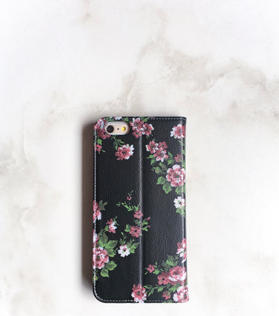 Floral Band Wallet case back view