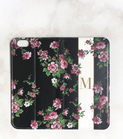 Floral Band Wallet for iPhone full view