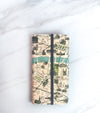 Paris Map wallet case for iPhone with strap