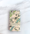 Paris Map iPhone 7 wallet case