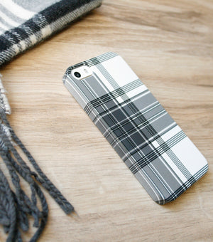 Winter White Plaid case with scarf