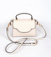 pretty ivory small handbag with adjustable strap
