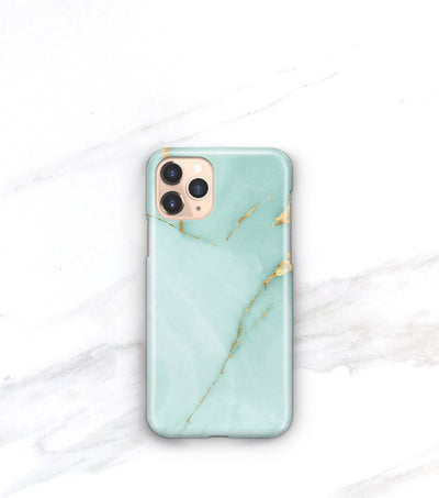 aqua and gold marble iphone 11 pro case