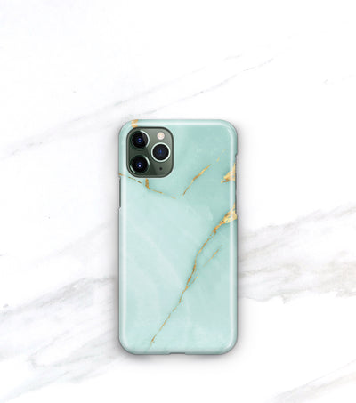teal and gold marble iphone 11 pro max case