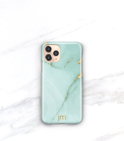 monogrammed teal onyx iphone 11 pro case