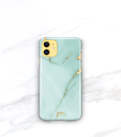 personalized iphone 11 case aqua marble