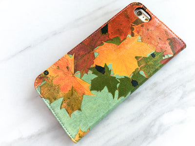 Autumn Leaves iPhone 7 Wallet side view