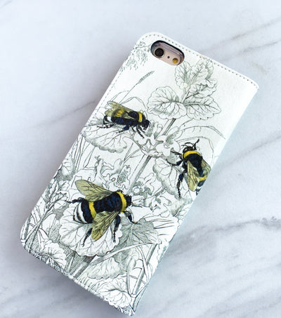 Bees Wallet case on marble